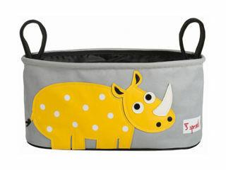 Immagine di 3 Sprouts portaoggetti per passeggino rinoceronte - Borse e organizer