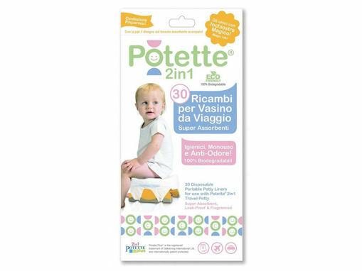Immagine di Potette ricambi monouso per vasino 30 pz - Vasini e riduttori