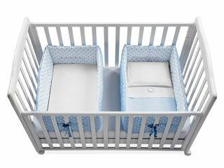 Immagine di Italbaby riduttore lettino per gemelli Gemmy pois azzurro - Riduttori lettino