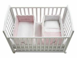Immagine di Italbaby riduttore lettino per gemelli Gemmy pois rosa - Riduttori lettino