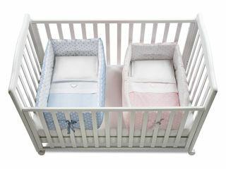 Immagine di Italbaby riduttore lettino per gemelli Gemmy pois rosa e azzurro - Riduttori lettino