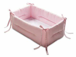 Immagine di Italbaby riduttore lettino Bebè tinta unita rosa - Riduttori lettino