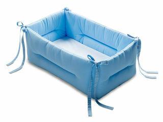 Immagine di Italbaby riduttore lettino Bebè tinta unita azzurro - Riduttori lettino