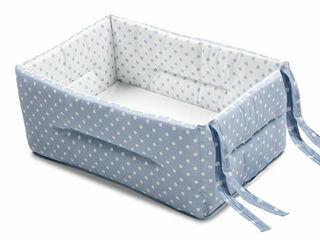 Immagine di Italbaby riduttore lettino Bebè pois azzurro - Riduttori lettino