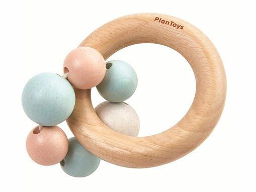 Immagine di PlanToys cerchietto con palline pastello - Educativi