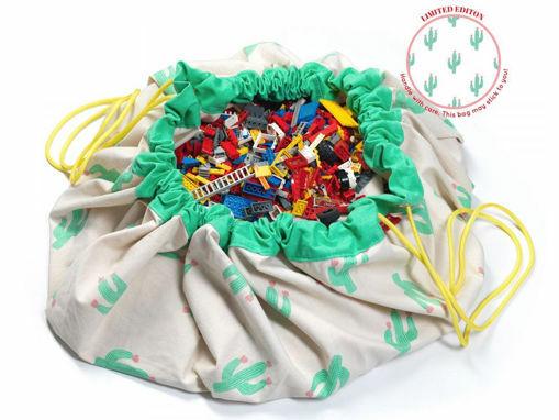 Immagine di Play&Go sacco portagiochi e tappeto 2in1 (limited edition) cactus - Portagiochi
