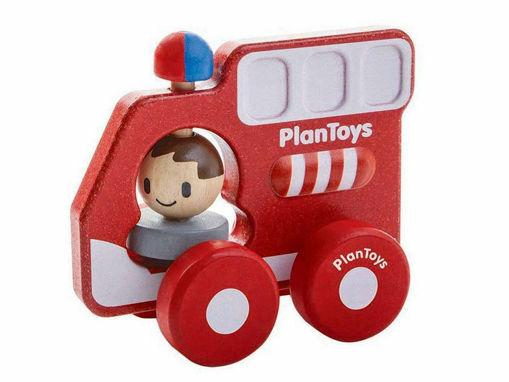 Immagine di PlanToys camioncino dei pompieri - Educativi