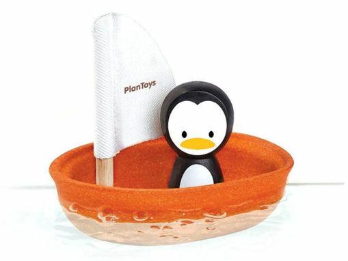 Immagine di PlanToys barca a vela con pinguino - Educativi