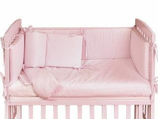 Immagine di Picci rivestimento tessile culla Lella Color tinta unita rosa - Corredino nanna