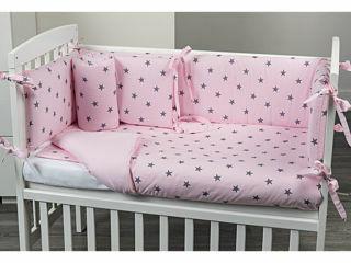 Immagine di Picci rivestimento tessile culla Lella Stella rosa - Corredino nanna