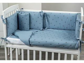 Immagine di Picci rivestimento tessile culla Lella Stella azzurro - Corredino nanna