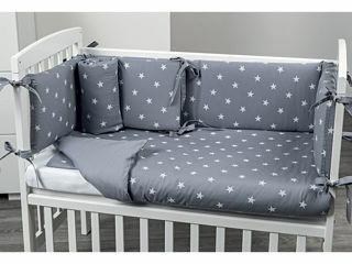 Immagine di Picci rivestimento tessile culla Lella Stella grigio - Corredino nanna