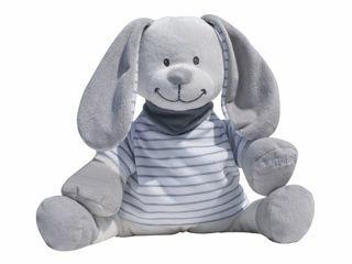 Immagine di Doodoo coniglietto righe grigio - Peluches