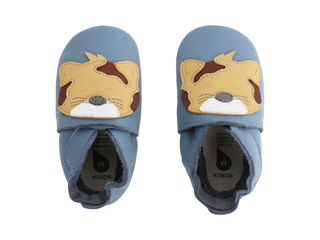 Immagine di Bobux scarpa neonato Soft Sole tg. L leopardo azzurro - Scarpine neonato