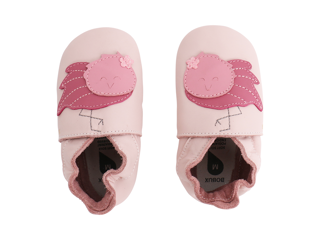 Immagine di Bobux scarpa neonato Soft Sole tg. M fenicottero rosa chiaro - Scarpine neonato