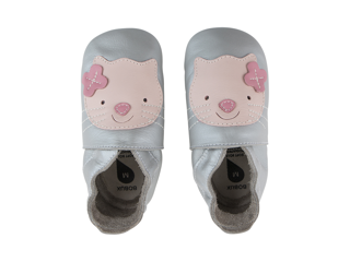 Immagine di Bobux scarpa neonato Soft Sole tg. M gattino argento - Scarpine neonato