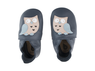 Immagine di Bobux scarpa neonato Soft Sole tg. M gufo navy - Scarpine neonato