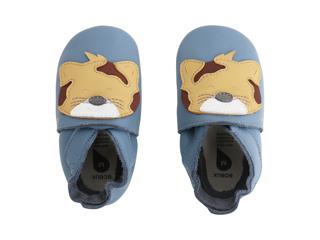 Immagine di Bobux scarpa neonato Soft Sole tg. M leopardo azzurro - Scarpine neonato