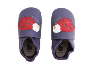 Immagine di Bobux scarpa neonato Soft Sole tg. XL coccinella viola - Scarpine neonato