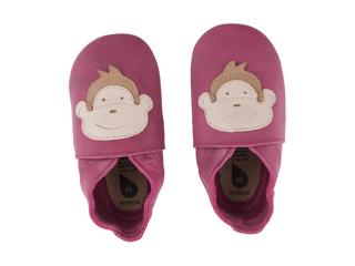 Immagine di Bobux scarpa neonato Soft Sole tg. XL scimmia rosa scuro - Scarpine neonato