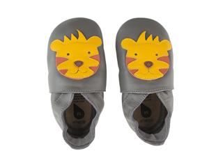 Immagine di Bobux scarpa neonato Soft Sole tg. XL tigre grigio - Scarpine neonato