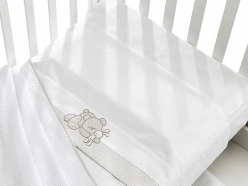 Immagine di Erbesi completo lenzuolino 3 pz Birba bianco - Corredino nanna
