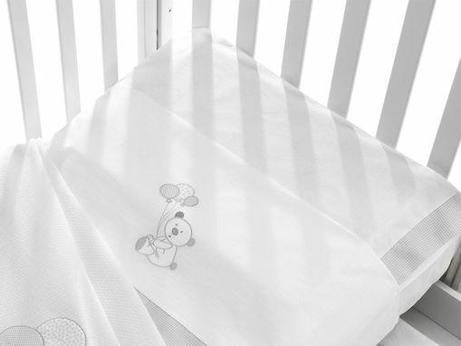 Immagine di Erbesi completo lenzuolino 3 pz Toby bianco - Corredino nanna
