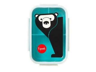 Immagine di 3 Sprouts porta pranzo 3 scomparti orso celeste - Accessori vari