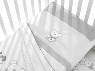 Immagine di Erbesi completo lenzuolino 3 pz Pongo grigio - Corredino nanna