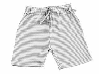 Immagine di Bamboom pantaloncino corto rigato bianco-grigio tg 1 mese - Pantaloni