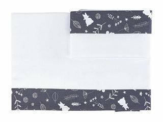 Immagine di Dili Best lenzuolino 3 pz letto Ozzy Montessori grigio - Corredino nanna