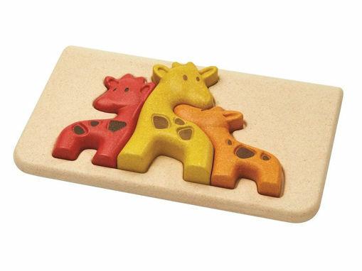 Immagine di Plan Toys giraffe puzzle  - Giocattoli in legno