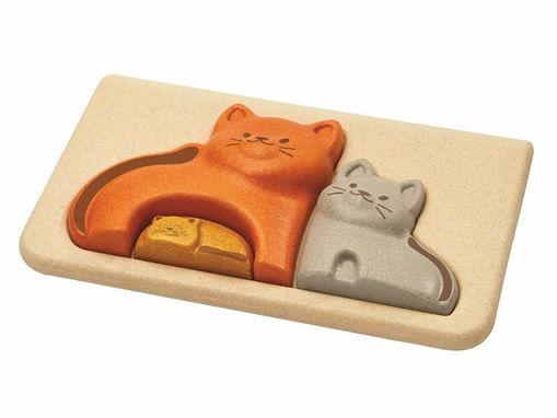 Immagine di Plan Toys cat puzzle  - Giocattoli in legno