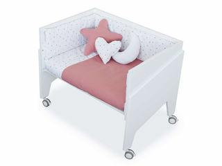 Immagine di Alondra culla Equo con tessile e materasso white-rose - Culle