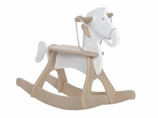 Immagine di Alondra cavallo a dondolo Rocky bianco - Giochi cavalcabili