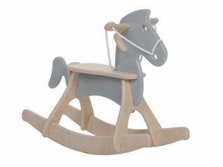 Immagine di Alondra cavallo a dondolo Rocky grigio - Giochi cavalcabili