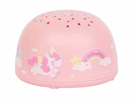 Immagine di A Little Lovely Company luce LED proiettore unicorno rosa - Luci antibuio