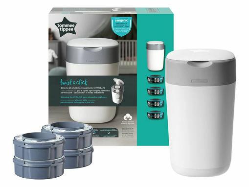 Immagine di Tommee Tippee contenitore getta pannolini Sangenic Twist & Click special kit + 4 ricariche - Getta pannolini