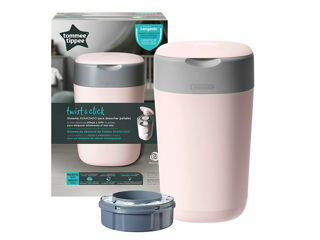 Immagine di Tommee Tippee contenitore getta pannolini Sangenic Twist & Click rosa - Getta pannolini