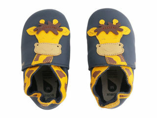 Immagine di Bobux scarpa neonato Soft Sole tg. XL giraffa navy - Scarpine neonato