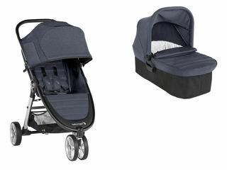 Immagine di Baby Jogger duo City Mini2 3 ruote carbon - Passeggini trio e duo