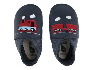 Immagine di Bobux scarpa neonato Soft Sole tg. L treno e carro navy - Scarpine neonato