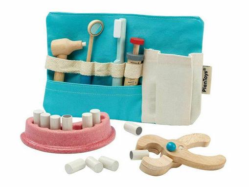 Immagine di Plan Toys set dentista - Giocattoli in legno