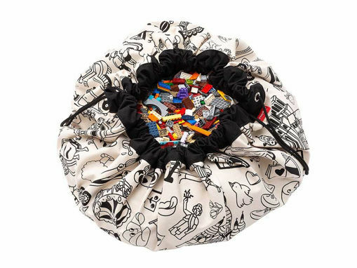 Immagine di Play&Go sacco portagiochi e tappeto 2in1 Omy Paris - Portagiochi