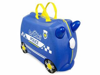 Immagine di Trunki valigia cavalcabile Percy police car blue - Zainetti e valigie