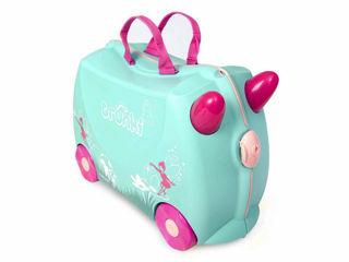 Immagine di Trunki valigia cavalcabile Flora fairy verdino - Zainetti e valigie