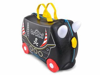 Immagine di Trunki valigia cavalcabile Pedro pirate black - Zainetti e valigie