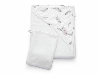 Immagine di Bamboom asciugamano neonato con cappuccio e guanto Bagno Duo feather - Accappatoi