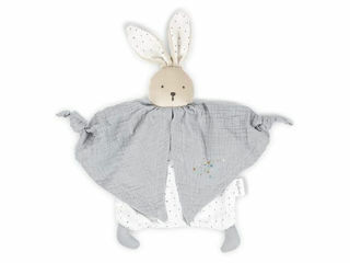 Immagine di Kaloo doudou in cotone biologico coniglietto grigio - Peluches