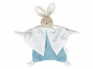 Immagine di Kaloo doudou in cotone biologico coniglietto azzurro - Peluches